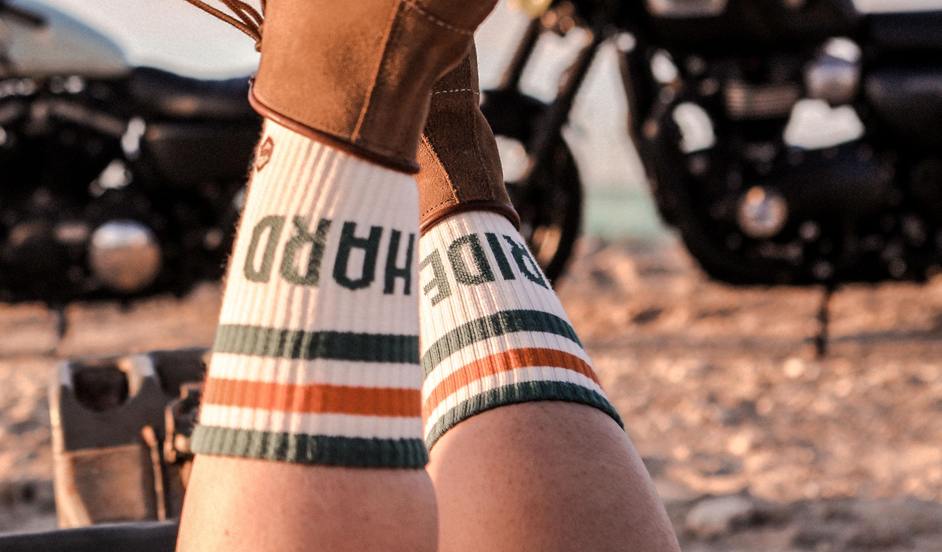 chaussettes ride hard coton