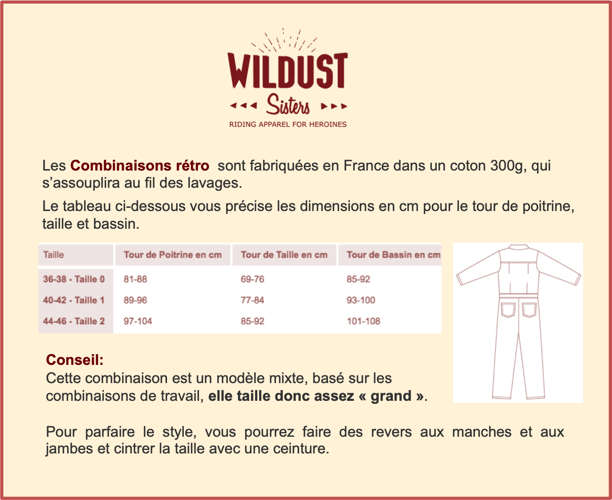 Guide Taille Combinaisons