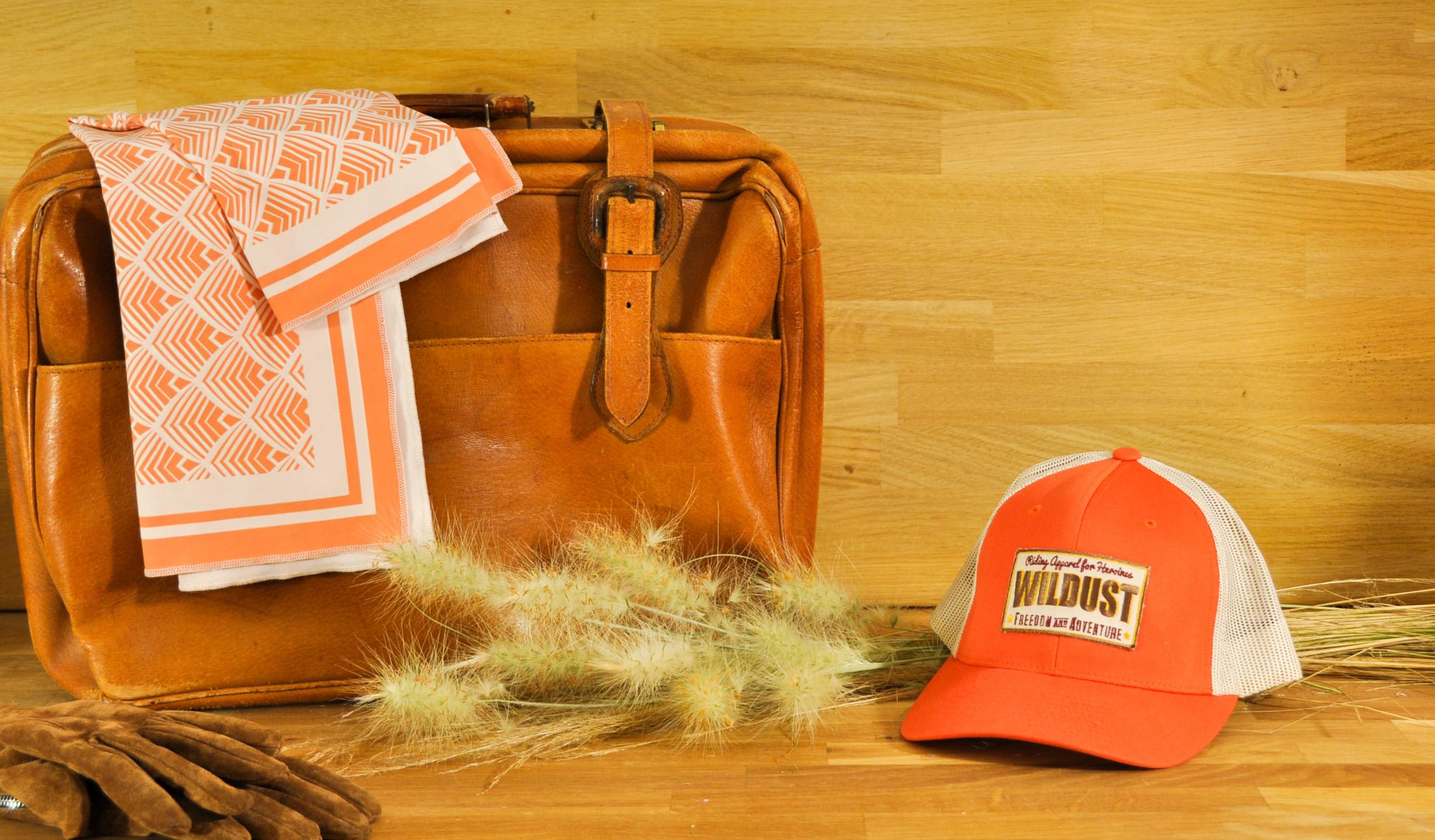 foulard redwood moto femme wildust orange