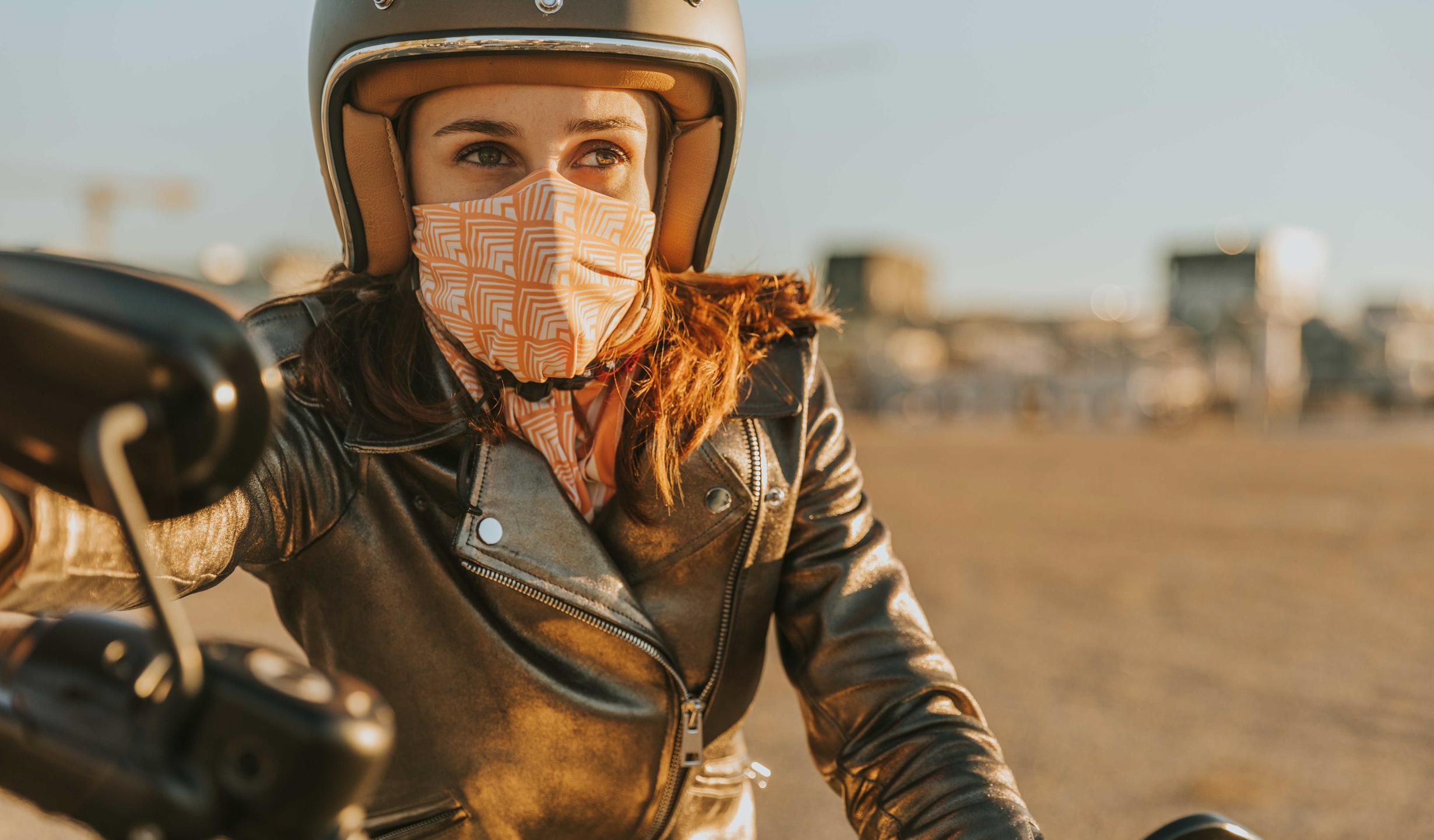 foulard orange redwood moto femme