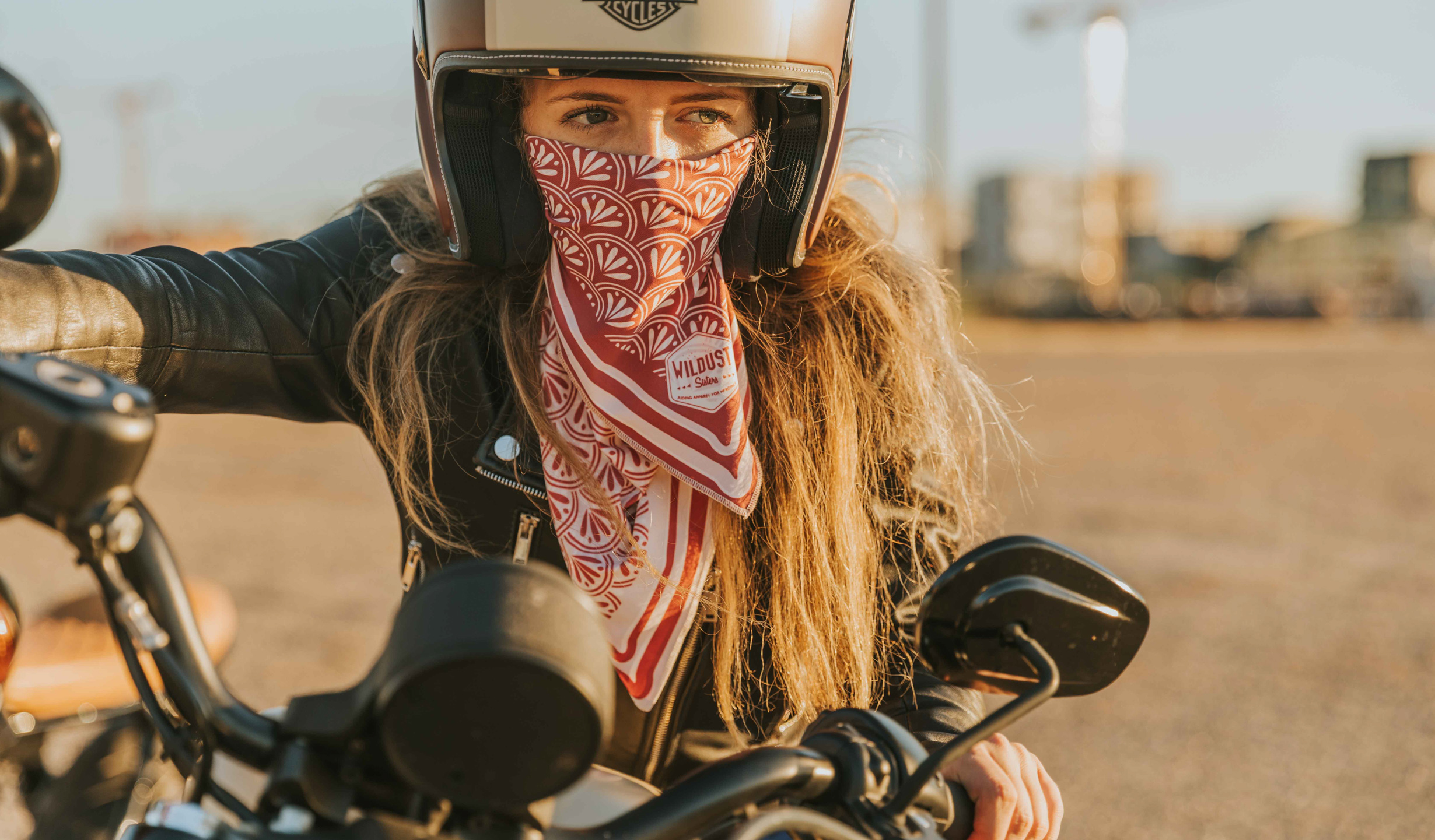 foulard moto femme rouge bordeaux