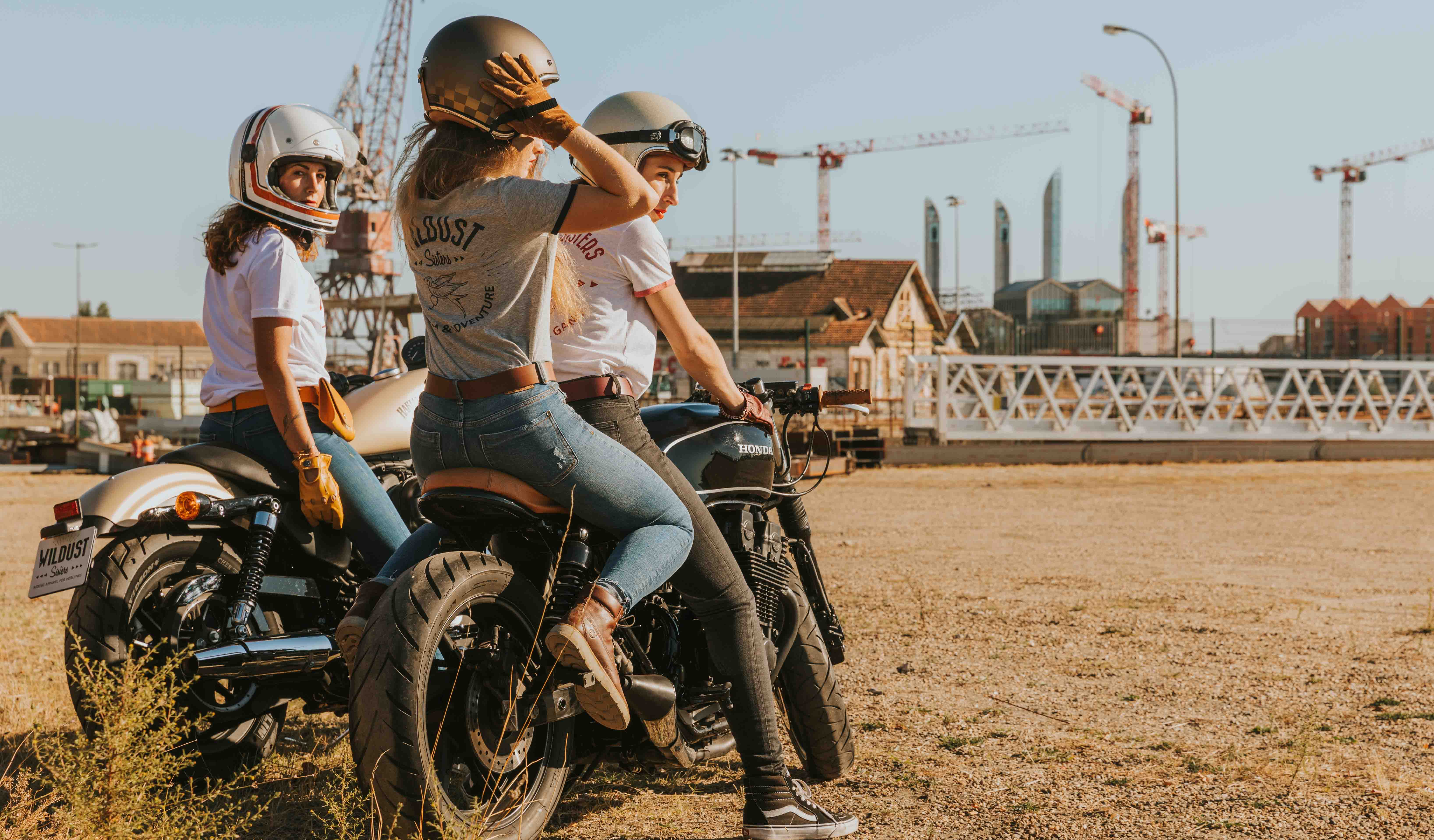 t shirt wildust femmes moto