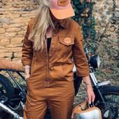 Plus que quelques jolies combis camel dispo sur le shop... Rendez-vous sur www.wildust.com pour trouver votre taille... soyez rapides ! . . #overall #jumpsuit #vintagelovers #vintagestyle #motogirl #bikergirl #ridelikeagirl #womanrider #womenwhoride  . . . Thank you @rsandlow.b, @low____b and @charlis.cmc  for the pic !