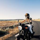"""You don't always need a plan. Sometimes you just need to breathe, trust, let go and see what happens.""  . Oser se dépasser, se réaliser : nous sommes les héroïnes de notre propre histoire.  Wildust s'inspire de chacun de ces parcours, et invite chacune d'entre nous à s'ouvrir à de nouvelles aventures,  lâcher prise sur le quotidien et accomplir ses rêves de liberté et d'indépendance!  .  Empower yourself, dare, and adventure... : we are the heroines of our own story.  Wildust invites you  to create your own path, ride your life and manage to  let go the pression and run for adventure. . .  #ridelikeagirl #womanrider #bikergirl #girlrider #motogirl #holyroads #freespirits #womanwhoride . . Pic by @davidandrewoj, with @sophiemolesti / @triumph.france"