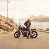 """Ready for the next trip ? Here we are getting ready for a 4 days road trip... Friends, sun and ride, what else? What are you plans ? . . En route pour un long week end de ride ! Ici on se prépare pour un petit road-trip de 4 jours, à profiter du soleil, des amis et de la route ! Et vous vous avez prévu quoi ce week-end? . . #roadtrippin #roadtrip #ridelikeagirl #womanrider """"bikergirl #motogirl #womenwhoride """"caferacerbabe   Thank you @antoningrenier et @alisoncossenet for this cool pic :-)"""