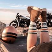 #ridehard Our socks are back in stock !You liked them so much we had to hurry up and produce more of them ! Actually we understand why you like them so much... If you try them on once, you'll never use other socks to ride again !  Comfy and stylish, just high enough for your boots, just thick enough for your feet ! . . Les chaussettes Ride HARD sont de nouveau en stock ! Vous les avez tellement aimées que l'on a du en reproduire vite vite ! Et on a pas de mal à comprendre ce succès ! Ceux qui ont essayé savent ! Confortables et stylées elles sont juste parfaites pour le ride.... Hauteur cool pour passer juste au dessus des boots, et une épaisseur de dingue sur la plante des pieds..Bref, le kiff !!! . . #coolsocks #ridehard #motorcyclegear #madeinfrance #motogirl #womanrider #skatergirl #womenwhoride #bikegirl #bikergirl