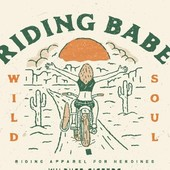 "DETAILS... . Tout nouveau et déjà dans vos favoris ! Le t-shirt 100% coton Bio Riding Babe, fait déjà parti de vos bests, on aurait pu l'imaginer, il est fait pour les ""WILD SOULS"" :-) . The Riding Babe Shirt was just released and is already one of your favourite :-). We'd bet on this, because it was made for wild souls en empowered women :-) . . #bikergirl #ridingbabe #motogirl #womanrider #womenwhoride #ridelikeagirl #wildsoul"