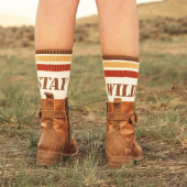 STAY WILD... Pick the best caption or write your own !   ✔️- Cool socks for independant women. ✔️- Warm socks for adventurers. ✔️- Wild socks for free souls. .... . . . => Super Funky Socks Made in France, available in 5 colors on the eshop www.wildust.com . . #happysocks #coolsocks #vintagesocks #funkysocks #frenchsocks #frenchmade #madeinfrance #riderssocks #ridingapparel #staywild #wildandfree 