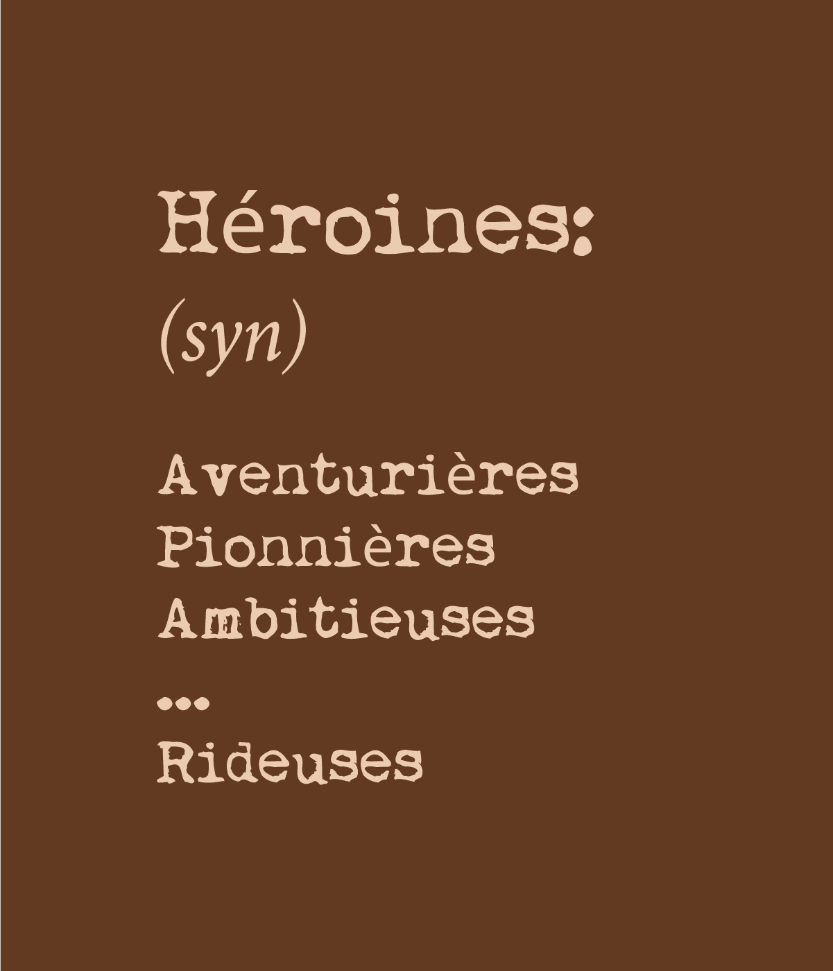 riding apparel for heroines